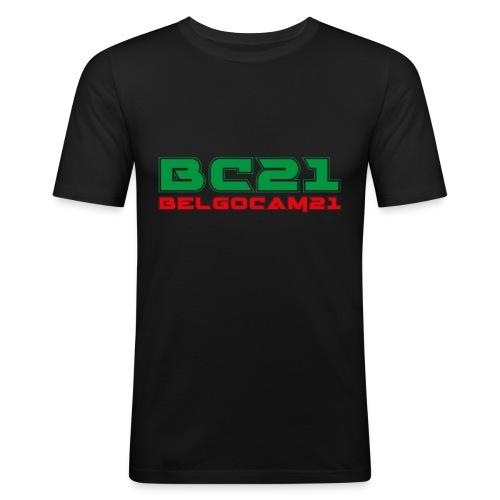 BC21 2faces2 - T-shirt près du corps Homme