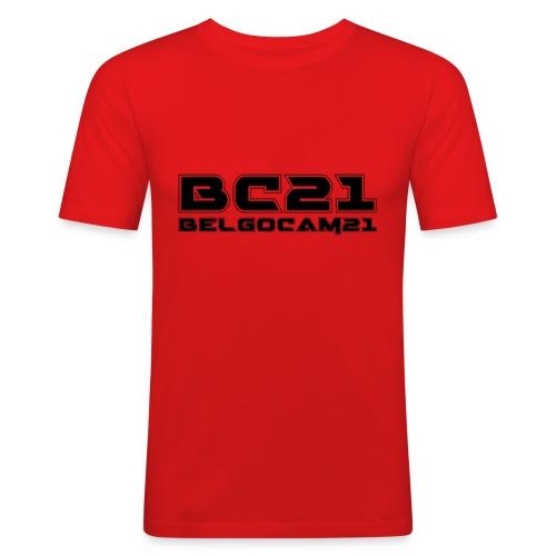 BC21 frontblack - T-shirt près du corps Homme
