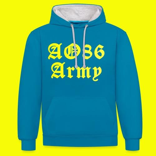 AO86 Army Sweat-Shirt / in verschiedenen Farben erhältlich - Kontrast-Hoodie