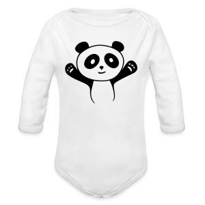 Panda Hug Baby Bodys - Baby Bio-Langarm-Body