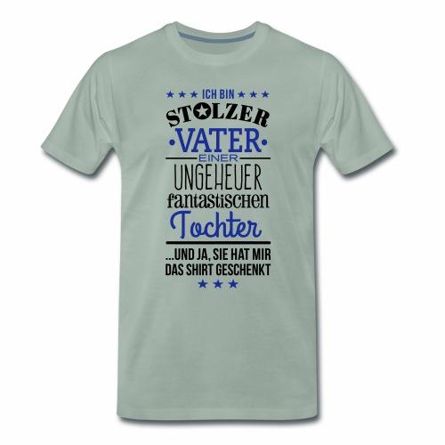 Männer khaki stolzer Vater - Männer Premium T-Shirt