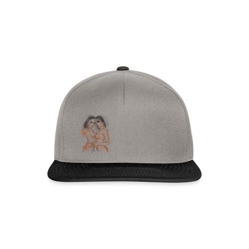 casquette motif fille  - Casquette snapback