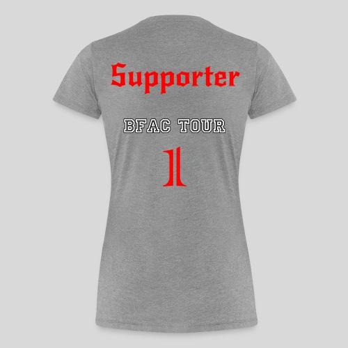 Supporterin Tour 1 grau - Frauen Premium T-Shirt