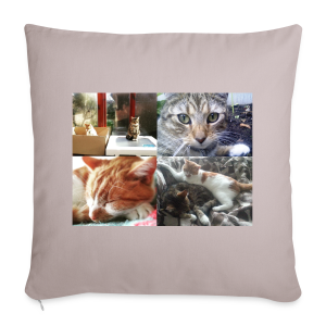 Cat Cushion - Button and Taco - Sofa pillow cover 44 x 44 cm