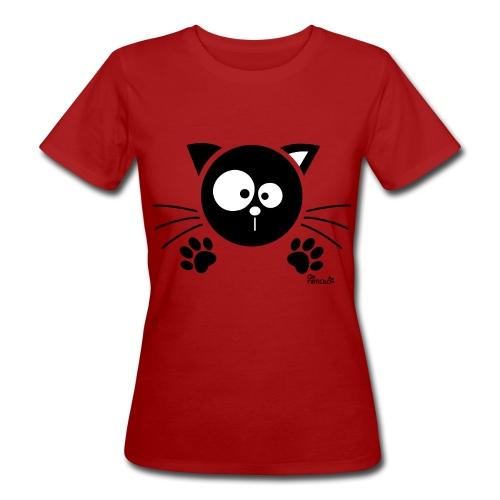 Tee shirt Bio Femme, Chat noir - T-shirt bio Femme