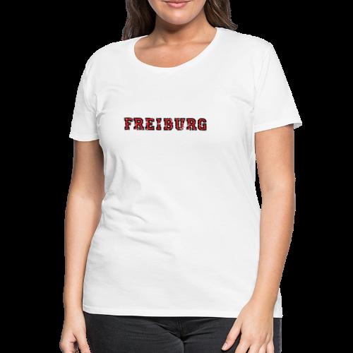 d11c87457e21b4 Freiburg College Used Look (Schwarz Rot) S-3XL T-Shirt -