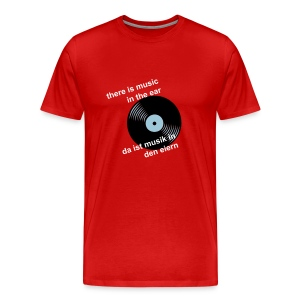 music in the ear  (editierbar) - Männer Premium T-Shirt