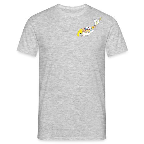 Koi Karper wit met kleur - Mannen T-shirt