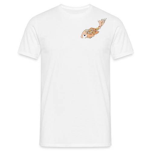 Oranje karper op wit - Mannen T-shirt