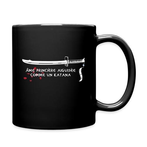 Mug noir katana & roses - Mug uni