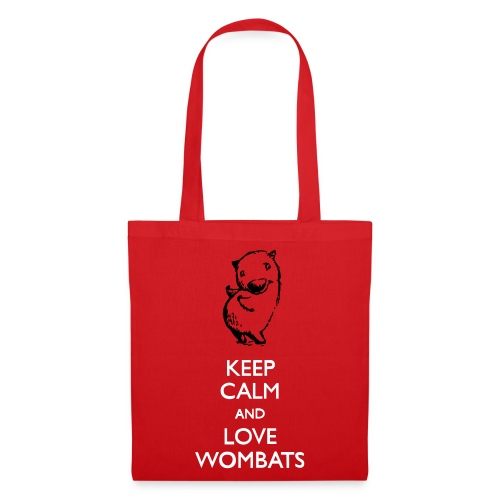 Keep calm and love Wombats - Stoffbeutel