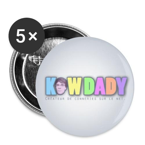 Badge KowDady - Lot de 5 moyens badges (32 mm)