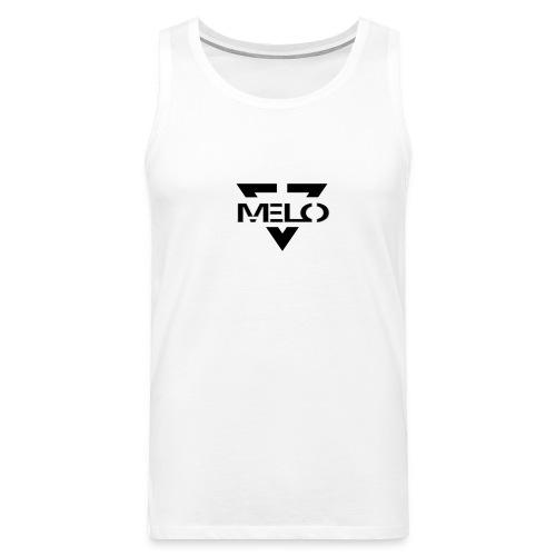 Melo Blanc/Noir Homme - Débardeur Premium Homme