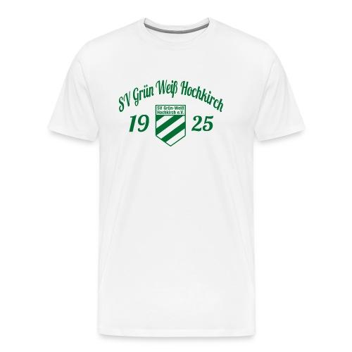 Shirt weiß mit Logo und Schritzug für unsere Herren - ♂  - Männer Premium T-Shirt