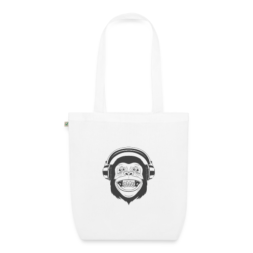 Bio Stoffbeutel Monkey Beatz - Bio-Stoffbeutel