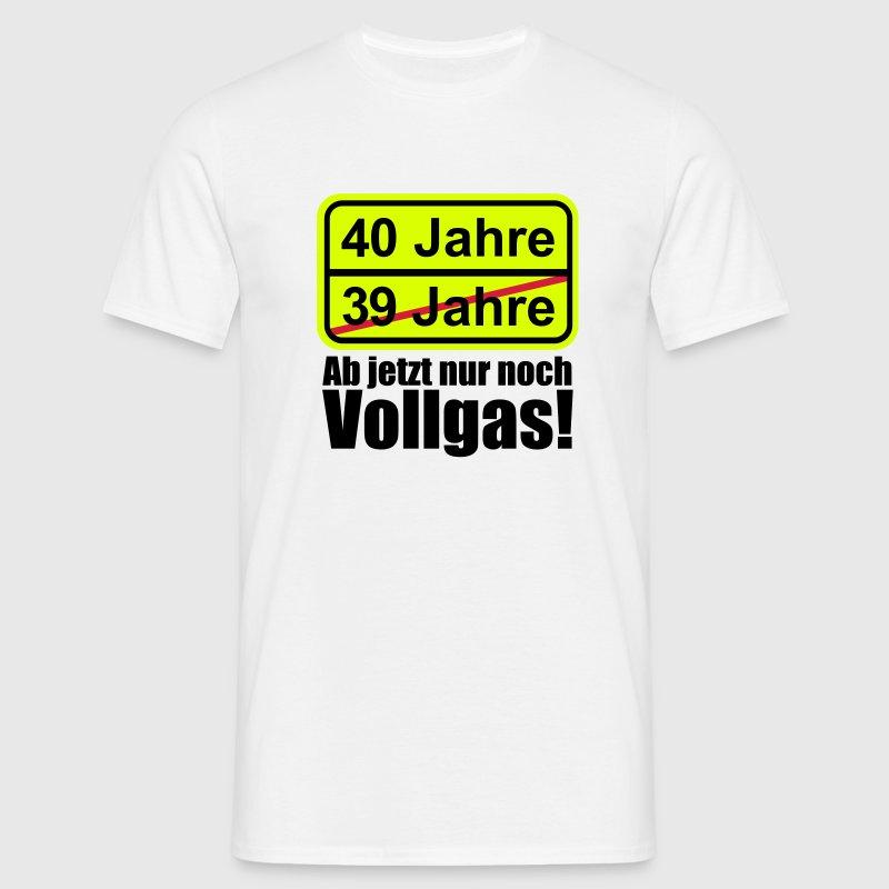40 jahre lustiges schild 40 geburtstag t shirt spreadshirt. Black Bedroom Furniture Sets. Home Design Ideas