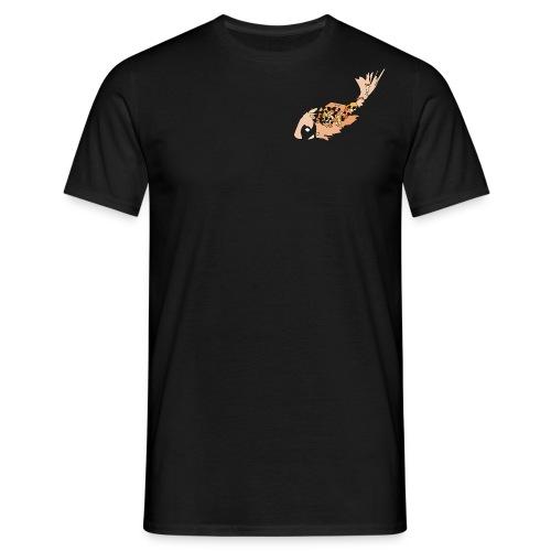 Oranje karper op zwart - Mannen T-shirt
