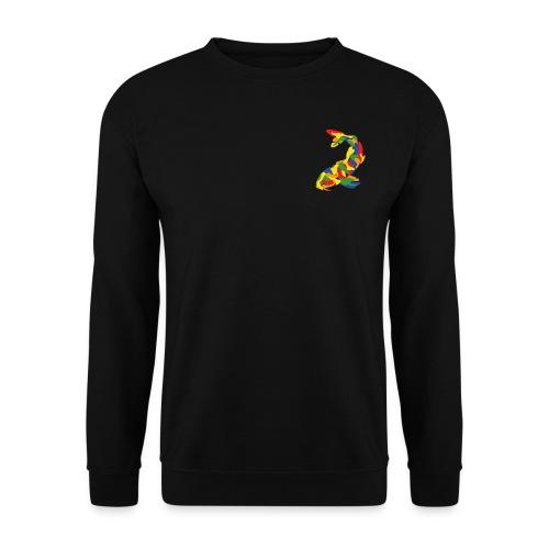 Kleur karper op zwarte trui - Mannen sweater