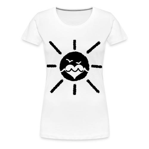 Sol fåglar vatten kram - svart - Slim - Premium-T-shirt dam