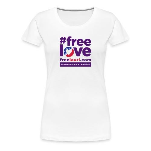 Free Love Women's T-shirt - Women's Premium T-Shirt