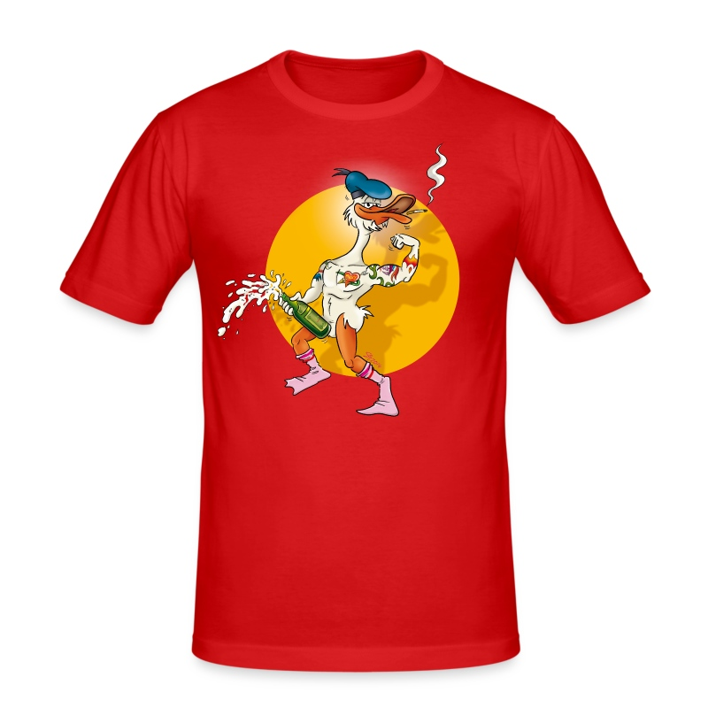 Erpel / Red / Slim - Männer Slim Fit T-Shirt