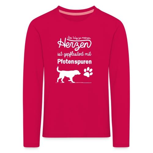 Pfotenspuren Pullover Kinder - Kinder Premium Langarmshirt
