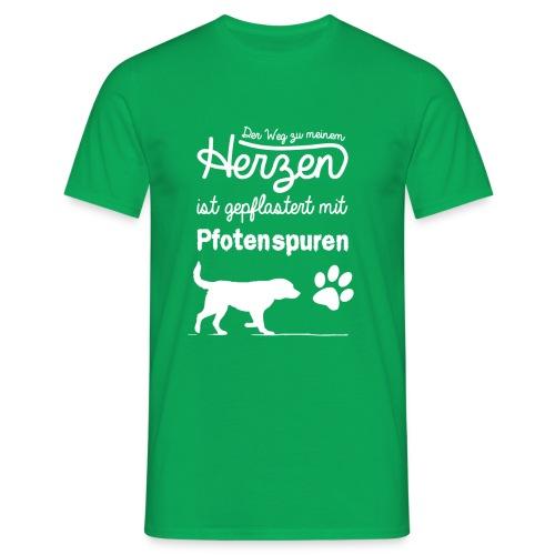Pfotenspuren T-Shirt Männer - Männer T-Shirt