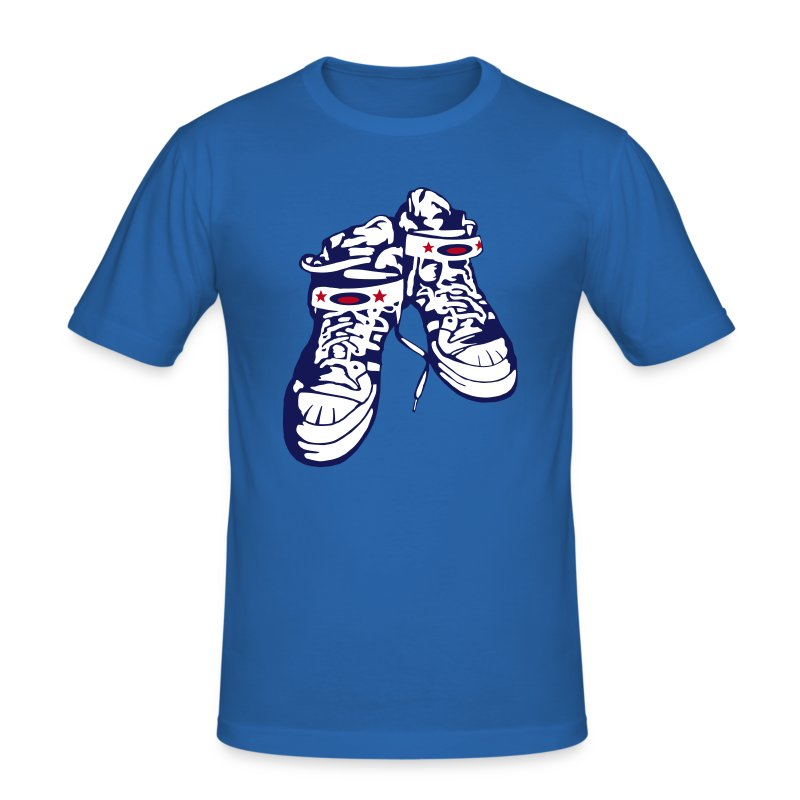 Sneaker / Blue / Slim - Männer Slim Fit T-Shirt
