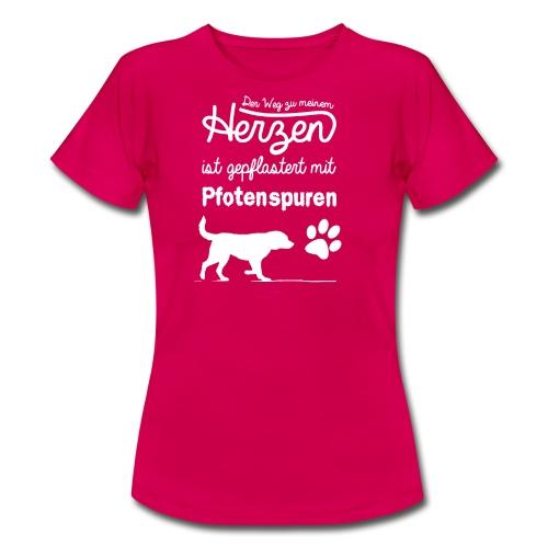 Pfotenspuren T-Shirt Girlie - Frauen T-Shirt