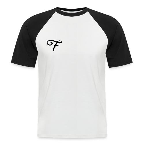 Básica con mangas negras - Camiseta béisbol manga corta hombre