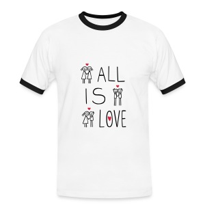 LOVEshirt All is Love - Männer Kontrast-T-Shirt