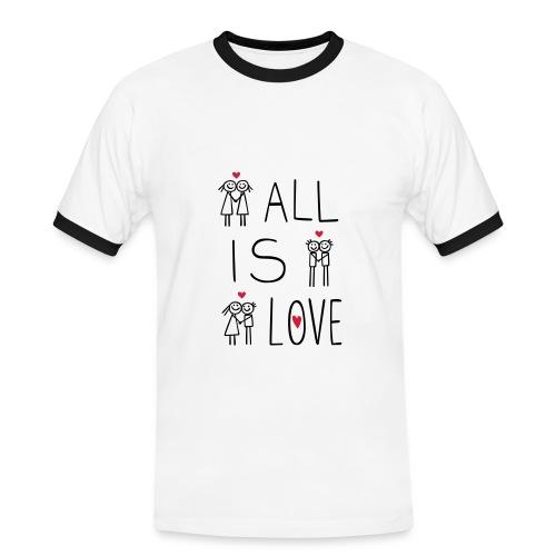 LOVEshirt All is Love - Männer Kontrast-T-Shirt