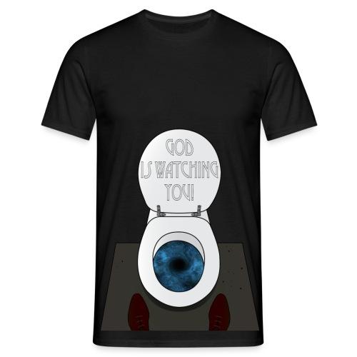 God is watching you! (t-shirt) - Maglietta da uomo