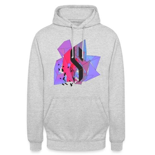 Neon pink hoodie front - Unisex Hoodie