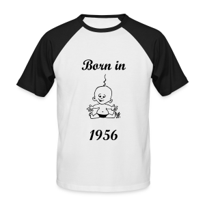 Born in 1956 - Männer Baseball-T-Shirt
