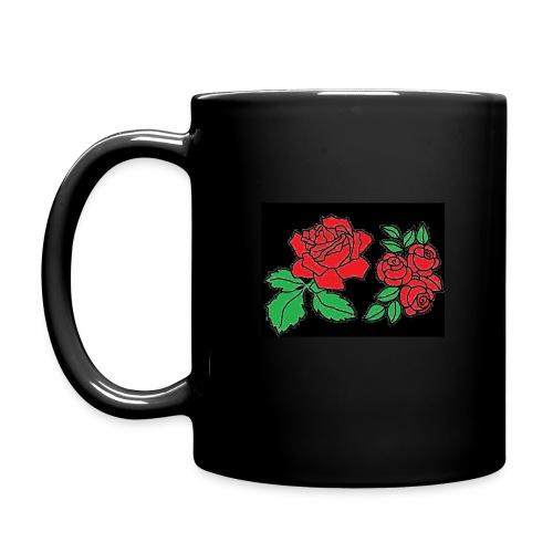 Tasse mit Rosenmotiv - Tasse einfarbig
