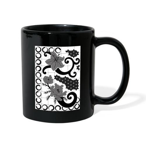 fleurs et graph - Mug uni