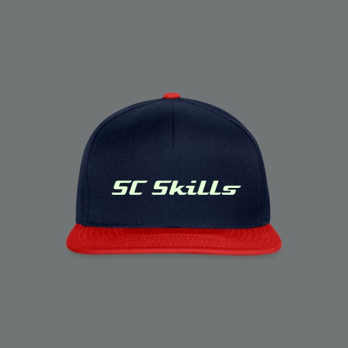 Snap-Back With Glow In The Dark Text - Snapback Cap