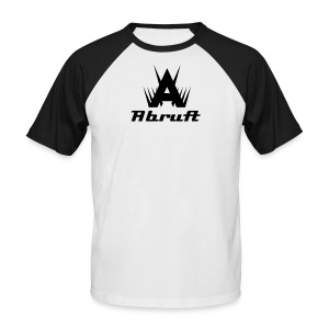 IconText - Black on White/Black - Men's Baseball T-Shirt