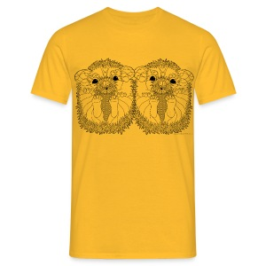 African pygmy hedgehogs - Men's T-Shirt