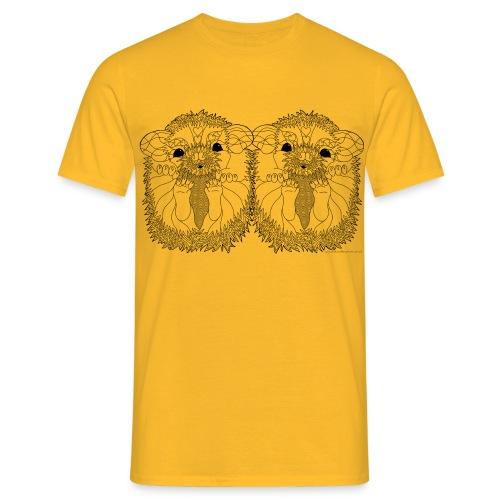 African pygmy hedgehogs - Men's T-Shirt