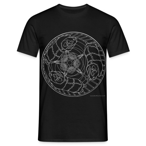 Three hamsters in a wheel - Men's T-Shirt