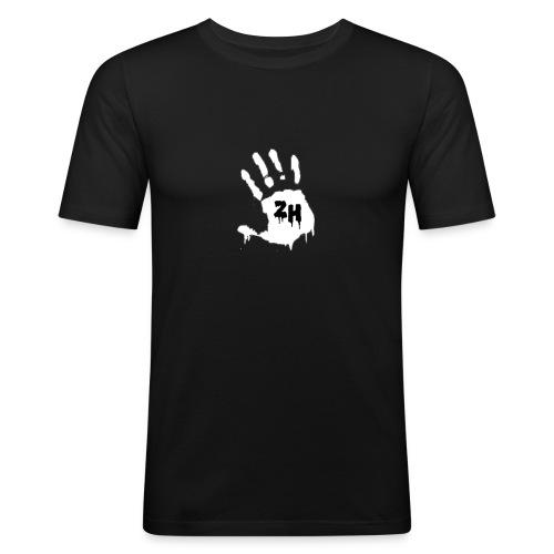 ZH T-Shirt White Hand - Blue/Navy/Black/Grey/Red/White - Männer Slim Fit T-Shirt