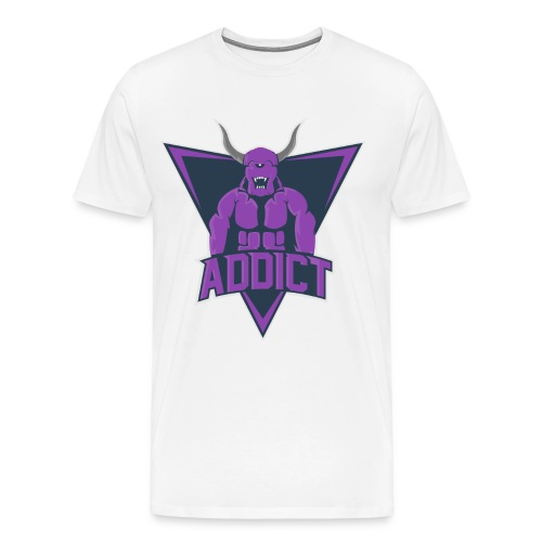 T-Shirt AddicT eSport Blanc Logo Couleur - T-shirt Premium Homme