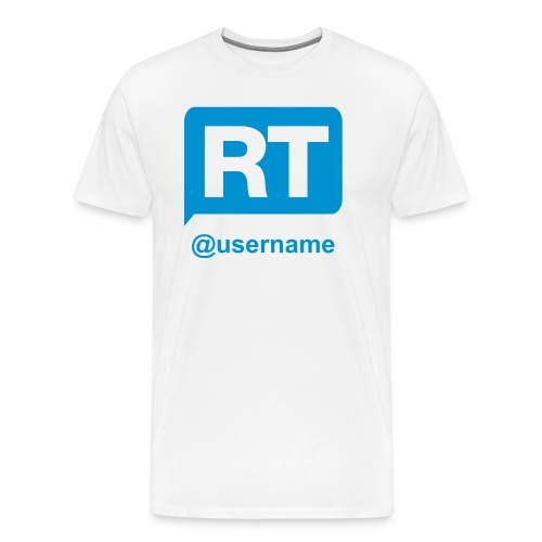 Twitter Retweet - Men's Premium T-Shirt