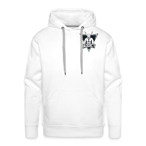 Sweat-shirt à capuche Blanc Logo Noir Derriere - Sweat-shirt à capuche Premium pour hommes