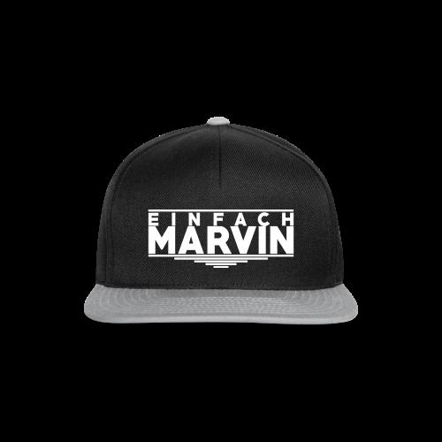 EinfachMarvin Snapback [Schwarz&Weiß] - Snapback Cap
