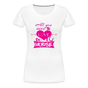 All you need - pink - Shirt premium - Frauen Premium T-Shirt