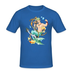 Little Merman / Blue / Slim - Männer Slim Fit T-Shirt