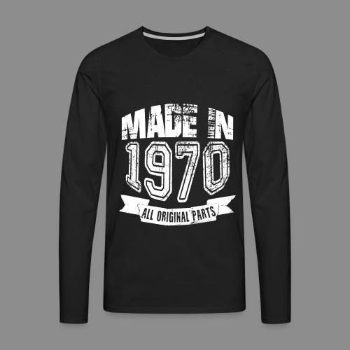 Made in 1970 - Camiseta de manga larga premium hombre